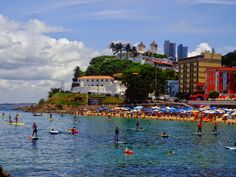 porto da barra, salvador, bahia, brasil, stand up paddle. Petunias, In 2019, Stand Up, Paddle, Dolores Park, Places To Visit, Landscape, Brazilian Destinations, Country
