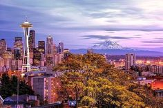 Seattle is an exciting urban city surrounded by unmatched natural beauty. Adventure awaits you. It's hard to think of Seattle as anything but natural, though. Seattle Skyline, Monte Rainier, Seattle Wallpaper, Oh The Places You'll Go, Places To Visit, Seattle Pictures, Orlando, Washington State, Seattle Washington