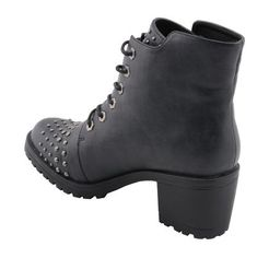 9be7bc3a82b Milwaukee Performance-MBL9426-Ladies Distress Black Rocker Boot with Studded  Instep free shipping 3-7 day in US Canada