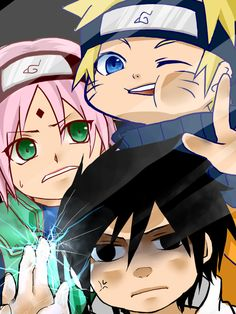 Naruto Shippuden Naruto, Sasuke, & Sakura lock screen