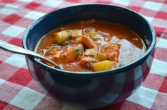 Smoky Manhattan Salmon Chowder