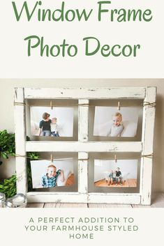 If you're designing a farmhouse kitchen and looking for the charm of an old window frame and the character of a charming barn, this unique picture frame is for you! Each window is constructed out of pine wood and lovingly stained, painted and distressed to give your home personality. Whether you lean this 4x6 picture frame on a fireplace mantle or hang it on your walls it will be sure to wow your family and friends. #etsyfinds #rusticdecor #farmhousedecor #afflink #pictureframe #photoframe…