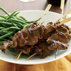Grilled Beef-Tenderloin Skewers with Red-Miso Glaze