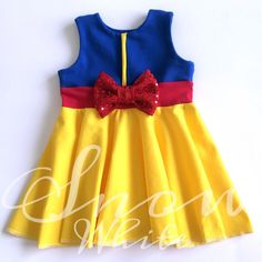 Snow White Inspired Disney Princess Girl's Dress. Child, Infant, Baby, Toddler Birthday Dress perfect for Disney themed party or Disney Bound!