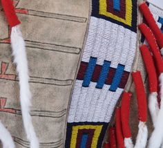 Sans Arc Lakota leader ONE BULL war shirt recreation, detail, by Lukas Navratil of the Czech Republic