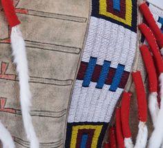Sans Arc Lakota leader ONE BULL war shirt recreation, detail, by Lukas Navratil of the Czech Republic