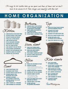 Home Organization Schedule :: OrganizingMadeFun.com