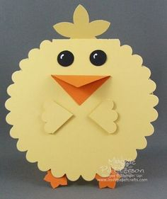 Easter Chick Card With Scallop Circle Die