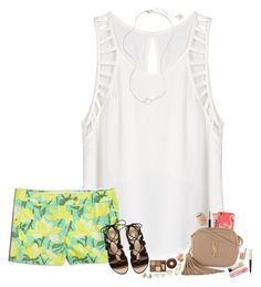 """""""Hanging out with @sassysouthernprep99 right now!"""" by hopemarlee ❤ liked on Polyvore featuring Lush Clothing, J.Crew, Kendra Scott, Ray-Ban, MAC Cosmetics, Bobbi Brown Cosmetics, Cartier, Kate Spade, Too Faced Cosmetics and Yves Saint Laurent"""