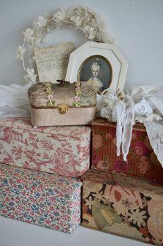 Antique Boudoir Jewelry Box Small Silk Box Box Pink | Etsy