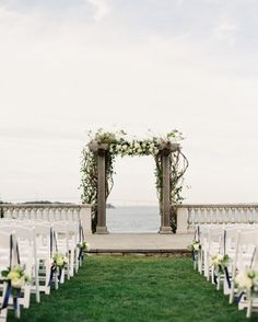 A Classic and Stylish Nautical Wedding | Martha Steward Weddings Magazine | Castle Hill Inn, Newport, Rhode Island