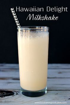 Hawaiian Delight Milkshake - take your mouth on a tropical vacation! Vanilla ice cream, coconut milk and pineapple - what could be better?! #drink #easy pineappl, drink, coconut milk, baby foods, delight milkshak, easy milkshake