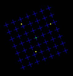 Motion Induced Blindness - stare at center dot - watch others disappear