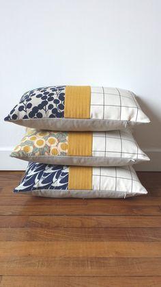 Sewing Pillows, Diy Pillows, Sofa Pillows, Custom Pillows, Decorative Pillows, Throw Pillows, Patchwork Cushion, Quilted Pillow, Cushion Embroidery
