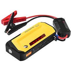 VicTsing   800A   Peak 18000mAh Car Jump Starter Power Bank with LCD Screen LED Flashlight Warning Light CompassDual USB Charging >>> See this great product.