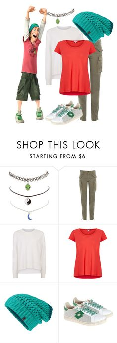 """Big Hero 6: Fred"" by madalynofandalasia ❤ liked on Polyvore featuring Charlotte Russe, Polo Ralph Lauren, Sweaty Betty, Splendid, The North Face and Lotto Leggenda"