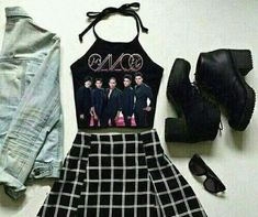 Yo lo quiero Dress Outfits, Cute Outfits, Dresses, Crop Tops, Tank Tops, Two Piece Skirt Set, Girly, My Love, Celebrities