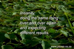 Insanity: Doing the same thing over and over again expecting different results Quotes To Live By, Knowledge, Wisdom, Thoughts, Ideas, Facts