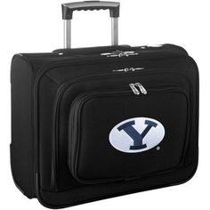 Denco Ncaa Wheeled Laptop Overnighter, Brigham Young (BYU), Black