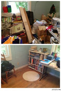 Before And After Of A Hoarders Spare Room Day 1 Sort Start To
