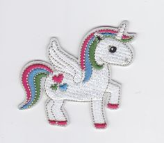 CUTE HORSE RAINBOW UNICORN EMBROIDERED AND FABRIC IRON ON APPLIQUE PATCH CUTE