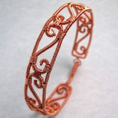 Copper Wire Wrapped Bracelet by =sylva on deviantART