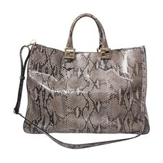 09c7152cc7 Labellov Fendi Grey Python Twins Tote ○ Buy and Sell Authentic Luxury
