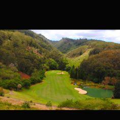 Golf course in Lanai, Hawaii