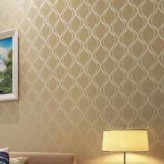 Moderno bege met lico textured damasco wallpaper rolo n o - Papel de pared moderno ...