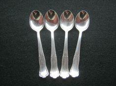 4 Stück Mokkalöffel Silber 800 gestempeltPunze