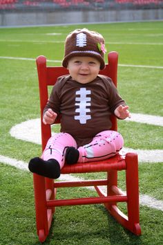 Football Onesie for baby boy or baby girl
