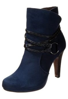 Platform-nilkkurit - sininen Platform, Booty, Ankle, Navy, Shoes, Fashion, Hale Navy, Moda, Wedge