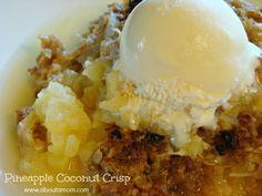 Pineapple Coconut Crisp Dessert is a great summer recipe!