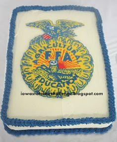 FFA Emblem cake - buttercream transfer technique (all piped)