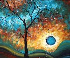 Aqua Burn. Painted by artist Megan Aroon Duncanson.