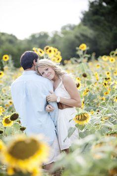 #sunflower  Photography: Buffy Dekmar Photography - buffydekmar.com  Read More: http://www.stylemepretty.com/2011/08/02/sunflower-farm-engagement-session/
