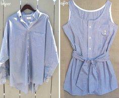Мастер-класс::шить из рубашки платье своими руками в домашних условиях   Модные платья