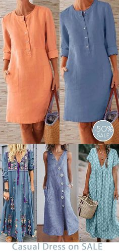 Good Looking Women, Fashion Outfits, Womens Fashion, Casual, How To Look Better, Dressing, Shirt Dress, How To Wear, Coco Chanel