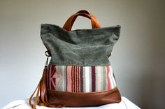 SAMPE//// Vintage Military Canvas Oregon Wool and por arebycdesign