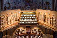 More complex than a Boeing 747.  Playing the right notes effectively and passionately at the right tempo is only half the job. Cathédrale Notre-Dame de Paris organ console.