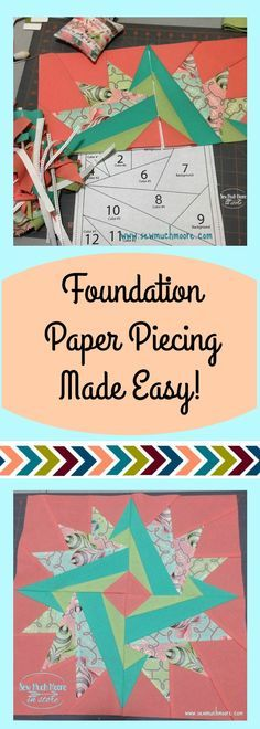 Foundation Paper Piecing is actually easier than you think! This quilt block came together easily and the pattern is free! I love the colors and how the finished mini quilt turned out!