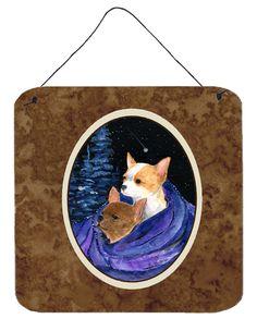 Starry Night Chihuahua Aluminium Metal Wall or Door Hanging Prints