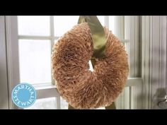 Craft a Holiday Wreath with Coffee Filters  ⎢Martha Stewart