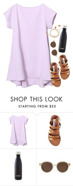 """""""thx a lot.."""" by kitkatdana ❤ liked on Polyvore featuring Steve Madden, S'well, Tory Burch and Happy Plugs"""