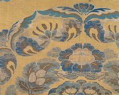 An arrangement of floral medallions interspersed with quatrefoil motifs was one of the dominant textile patterns of the High Tang period (roughly the first half of the eighth century). A textile with a similar large floral medallion has been preserved as part of the Shôsô-in collection from the mid-eighth-century imperial repository in Nara, Japan. However, an aspect of this work's weave structure-namely, that it is bound in weft-faced twill on both the face and the reverse-is more commonly…