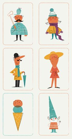 Illustration for educational material of Santillana.A total of 48 designs.
