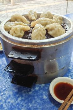 """Traditional Chinese dumplings, or """"jiao zi"""" from central China."""