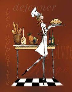 Varieté de Láminas para Decoupage: A la cocina!!