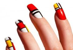 riouser Q-riouser: Geometric Nail Art Tutorial Great Nails, Love Nails, How To Do Nails, Fun Nails, Perfect Nails, Color Nails, Nail Art Designs, Acrylic Nail Designs, Acrylic Nails