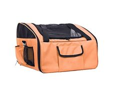 Foldable Orange Pet Travel Car Seat/carrier ** You can find more details by visiting the image link.